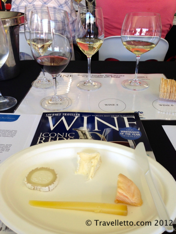 Wine and cheese matching in the Riedel wine theatre