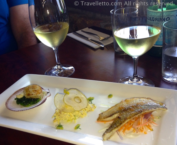 Sustainable seafood tasting plate