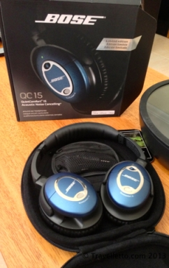 Bose QC15 noise cancelling headphones in case