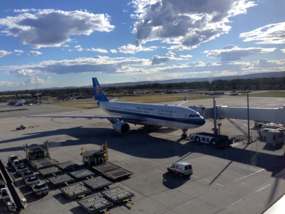 China Southern's A330-223 arriving at Perth International Airport