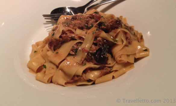 Pappardelle with wild rabbit, chestnut and prunes