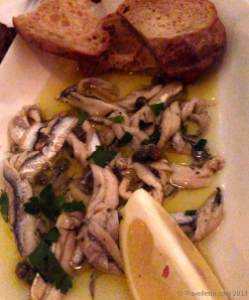 Marinated white anchovies