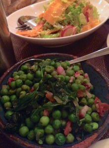 Gosak sa slaninom: Peas and bacon