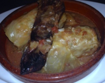 Sarma - pickled cabbage rolls with veal mince, rice and smoked ribs