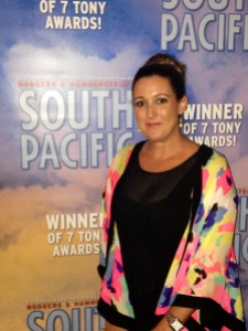 Kylee Symes at the opening night of South Pacific in Perth