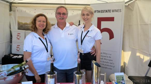 Julie, Mark and daughter Jess from Fifth Estate Wines