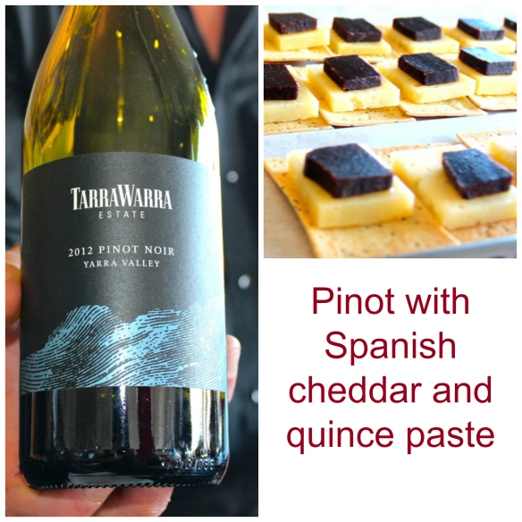 Wine match pinot and cheddar